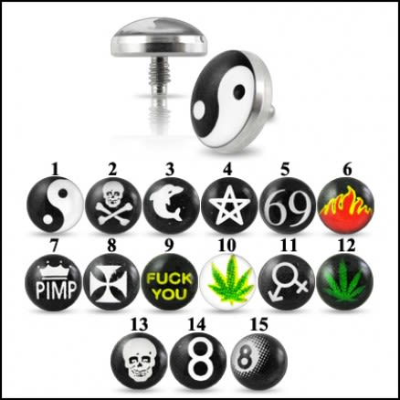 Logo Dermal Anchor Tops Body Jewelry | Dermal Anchors
