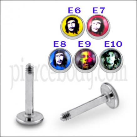 SS Labret with 4mm Celebrity Logo Ball