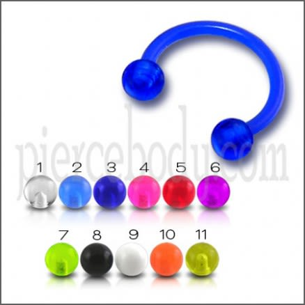 UV Circular Barbell with UV Balls