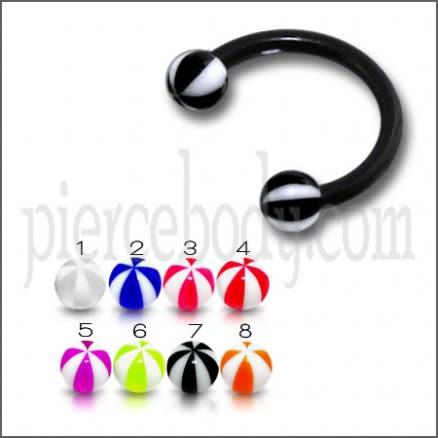 Flexible Acrylic Circular Barbell UV Ball Eyebrow Ear Lip Ring Body Jewelry