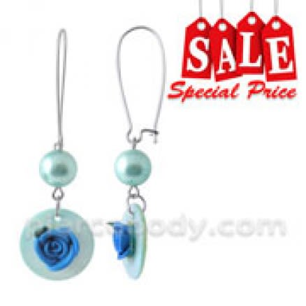 Fancy Flower Dangling Costume Earring