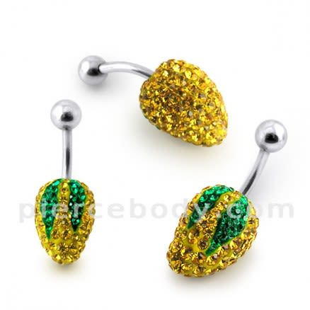 Mango Crystal stone Belly Ring