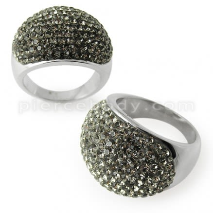 Austrian Green Crystal Stone Finger Ring