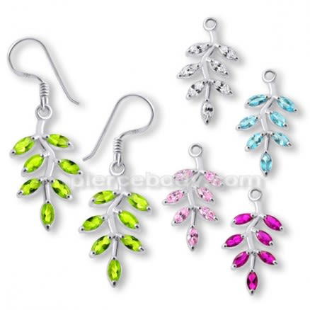 925 Sterling Silver leaf Earring