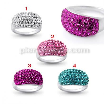 Fashion Vintage Dazzling Women Crystal Rhinestone Finger Ring