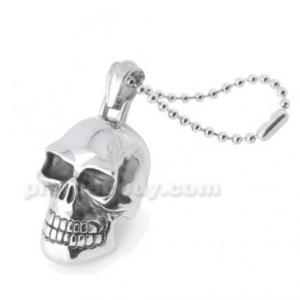 Stainless Steel Laughing Skull Pendant