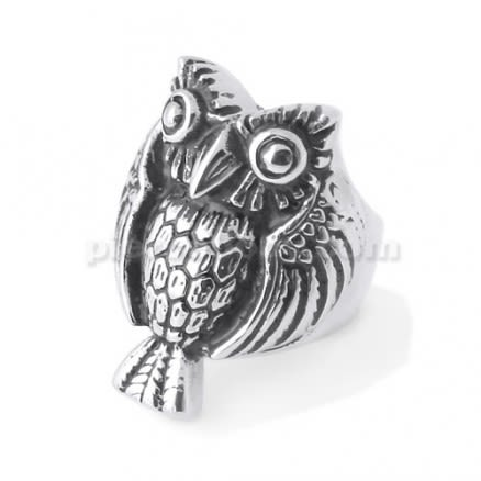 Stainless Steel Owl Shape Finger Ring