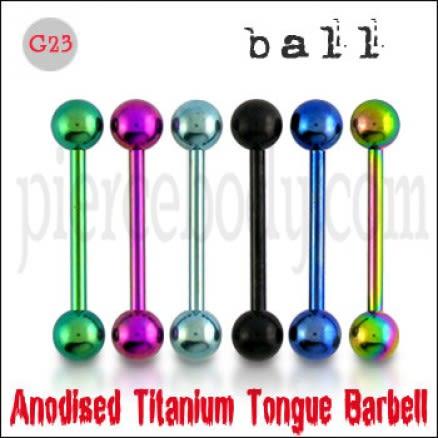 Titanium Anodised Straight Barbell