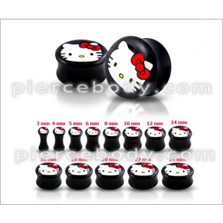 Double Flared Hello Kitty Logo Ear Plug
