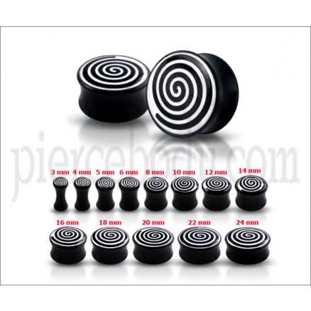 Double Flared Spiral Logo Ear Plug