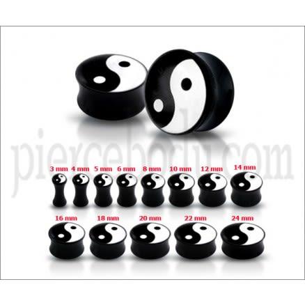 Ying Yang Logo Ear Plug