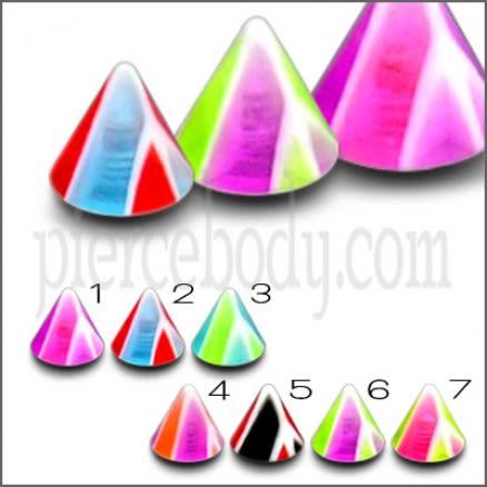 UV Cones Chin Monroe Lip Labrets Body Jewelry