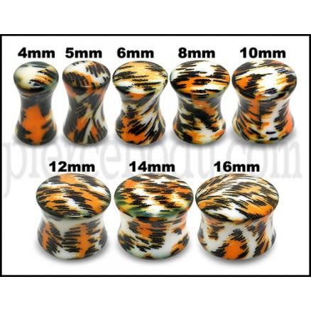 UV Double Flared Cheetah Ear Plug