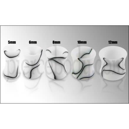 White Marble Hollow Ear Plug