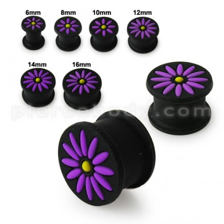 Embossed Flower Color Changing Silicone Ear Plug