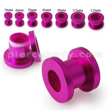 Purple Color Synthetic Pearl Screw Fit Flesh Stretcher