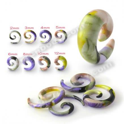 Acrylic Resin Spiral Ear Taper Earring