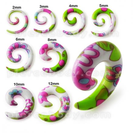 Flower Spiral Acrylic Ear Expander