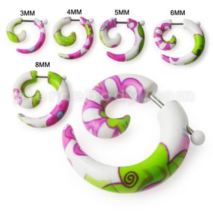 Summer Style Flower Earrings Fake UV Ear Tapers