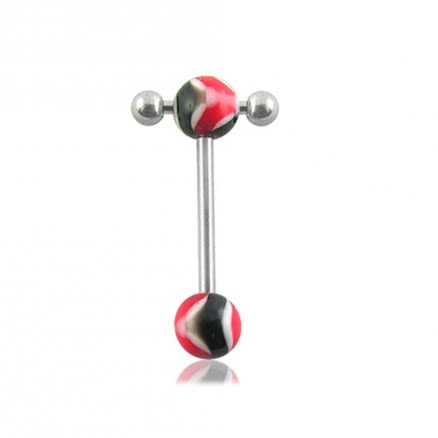 316L UV Tongue Bar barbell Fancy Ball Body Jewelry