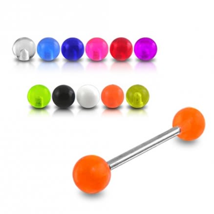 SS Tongue Barbell with UV Balls (Default)Back  Reset  Delete  Duplicate  Save  Save and Continue Edit
