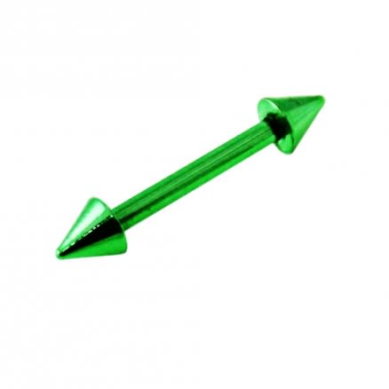 Anodized Eyebrow Straight Barbell with Cone