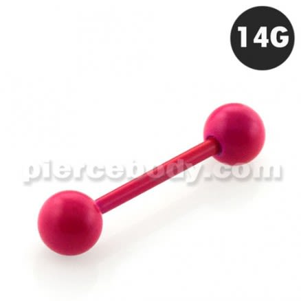 Neon Rose 316L Surgical steel Straight Barbells