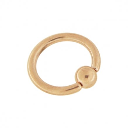 Rose Gold PVD Over 316L Surgical steel BCR Ring