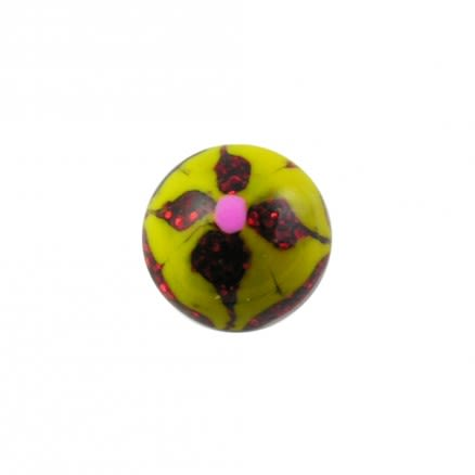 Mix Color Flower Hand Painted UV Balls