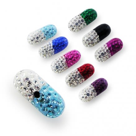 Crystal stone Capsules with Epoxy Cover