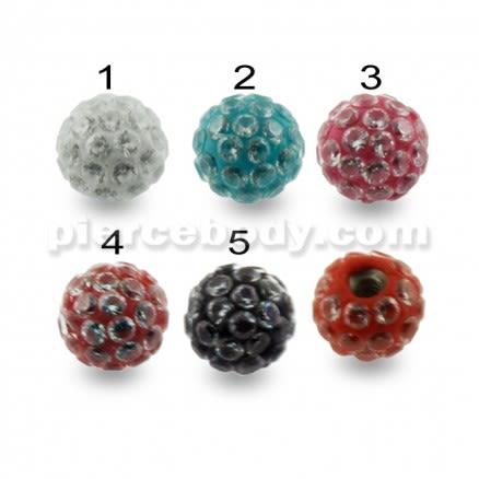 Multi Jeweled Genuine CZ Balls