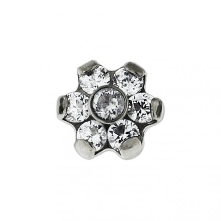 G23 Grade Titanium Threaded Opal Ball Tops for Internal Madonna Labrets