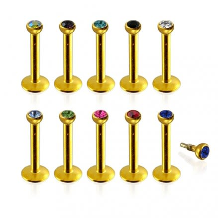 Gold Anodized Madonna Labret