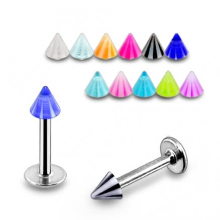 316 Sugical steel Labret 3mm Cone