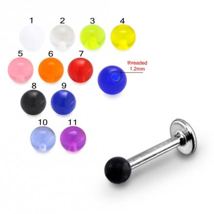 SS Labret With UV Fancy Colorful Balls BLT250