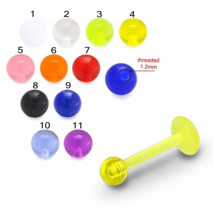 UV Labret With UV Fancy Balls