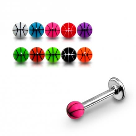SS Colorful UV Ball Stud Eyebrow Ring Barbells Piercing