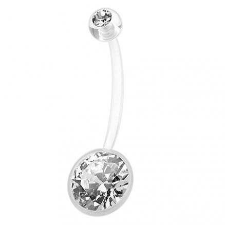BioFlex Jeweled Belly Ring