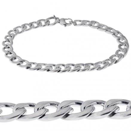 Classic Chain Link Stainless Steel Bracelet