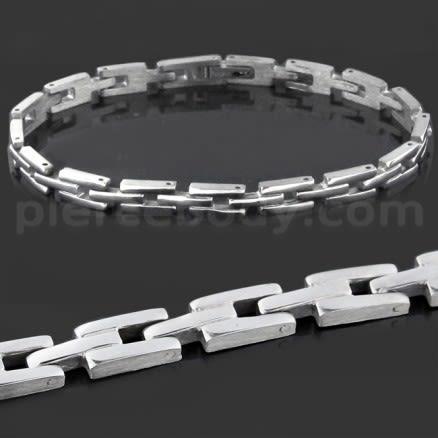 Stainless Steel Classing Plain Mens Bracelet