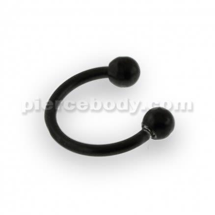 22G Black Anodized Micro Circular Barbell