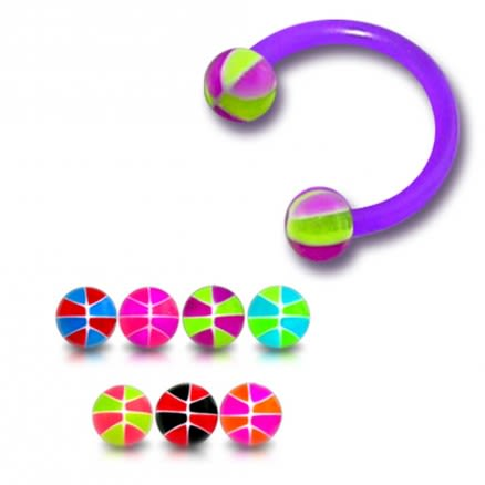 Bio Flexible Bar UV HorseShoe Eyebrow Circular Barbells