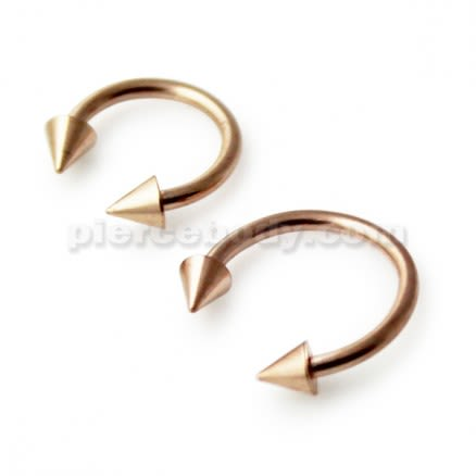 Rose Gold PVD Horseshoe piercing