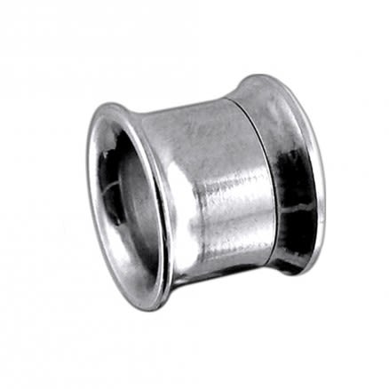 316L Surgical Steel Internally Threaded Ear Flesh Tunnel
