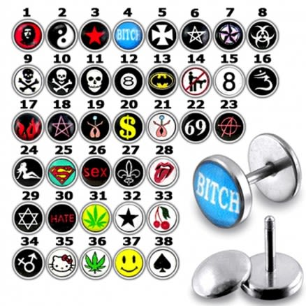 Fake Ear Plug with different logo