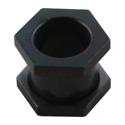 Hexagonal Blackline Ear Flesh Tunnel
