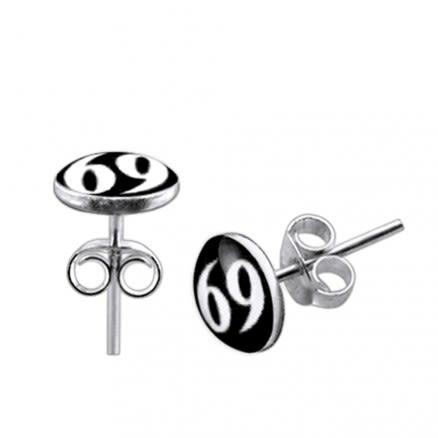 Logo Silver Earring