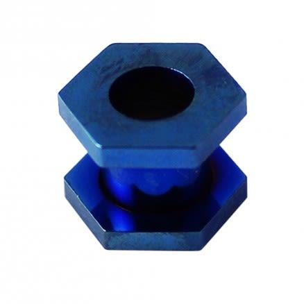 Hexagon Dark Blue Ear Flesh Tunnel