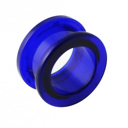 Screw Fit Dark Blue UV Ear Flesh Tunnel