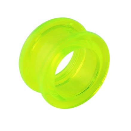 Screw Fit UV Green Ear Flesh Tunnel